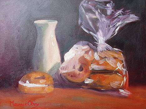 Creme cheese and Bagels by Maureen Obey