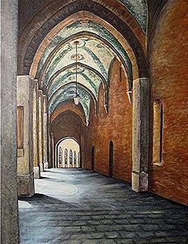 Cremona Courtyard by Elaine Balsley