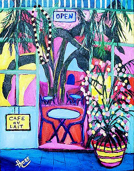Creole Cafe New Orleans by Ted Hebbler