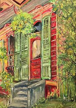 Creole Painted Lady in the Marigny by Robin Miller-Bookhout