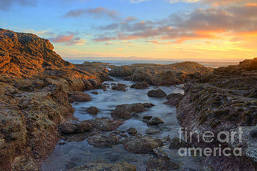 Crescent Bay Tide Pools At Sunset by Eddie Yerkish