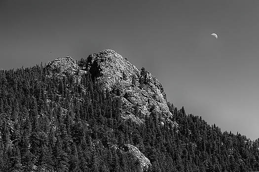 Crescent Moon and Buffalo Rock by James BO Insogna
