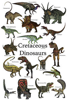 Cretaceous Dinosaurs by Corey Ford