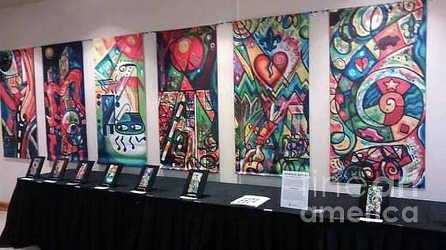 Creve Coeur Whimsical Motion Art Show And Banners On Display At Creve Coeur City Hall by Genevieve Esson