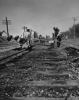 Chicago and North Western Historical Society - Crew Working on Rails - 1959