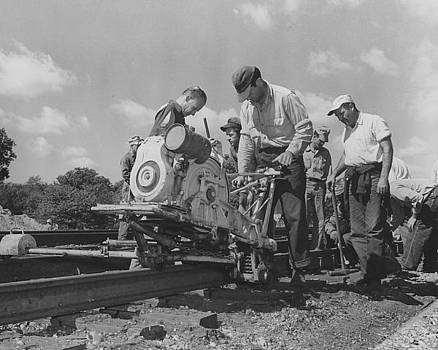 Chicago and North Western Historical Society - Crew Working on Rails