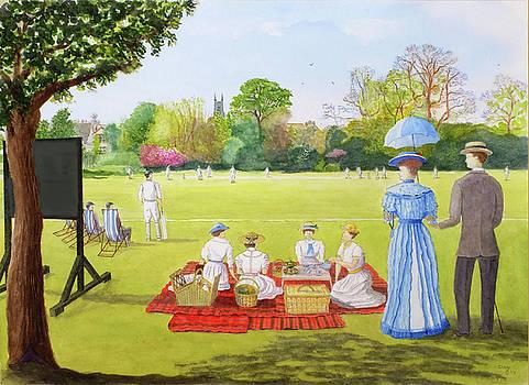 Cricket Match circa 1910 by David Godbolt