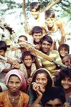 Cricket team, India by Barron Holland