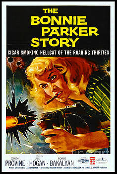 Crime Movie Poster 1958 by Padre Art
