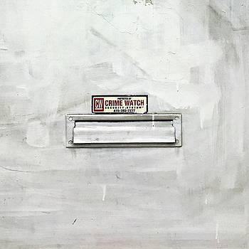 Crime Watch Mailslot by Julie Gebhardt