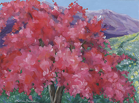 Crimson Crabapple Tree by Linda Rauch