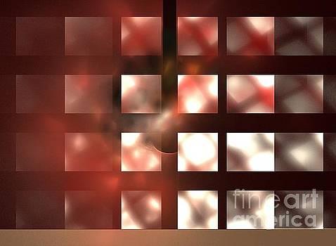 Crimson Cubes by Kim Sy Ok