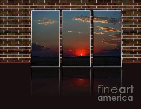 Crimson sunset in the triple  by Viktor Birkus