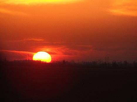 Crimson Sunset by J R Seymour