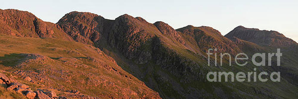 Crinkle Crags dawn panorama by Gavin Dronfield