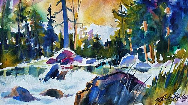 Crisp Snowy Morn near Tahoe by Therese Fowler-Bailey
