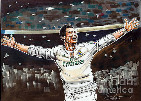 Cristiano Ronaldo of Real Madrid by Dave Olsen