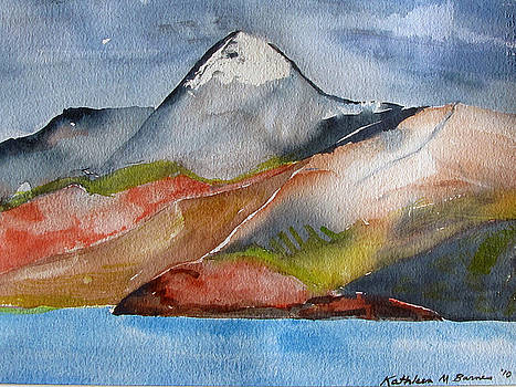Croagh Patrick in March by Kathleen Barnes