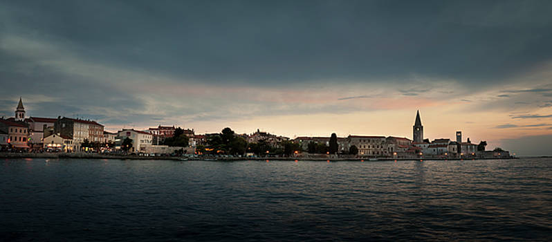 Croatian Town of Porec at Dusk by Alex Saunders
