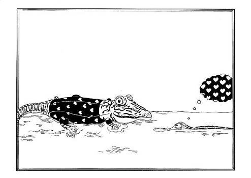 Crocodile love by Anastassia Neislotova