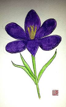 Crocus by Margaret Welsh Willowsilk