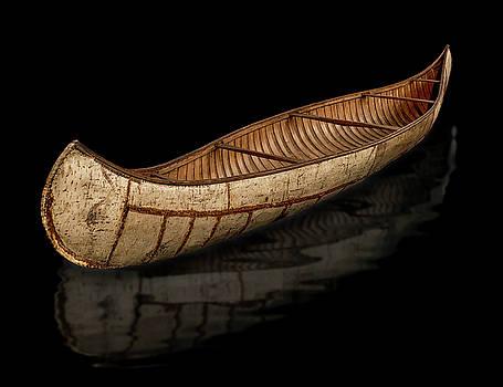 Crooked Birch Bark Canoe by Gary Warnimont