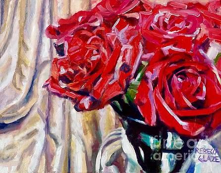Crimson  Petals by Rebecca Glaze