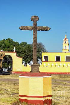 Cross in Cholula, Mexico by Jess Kraft