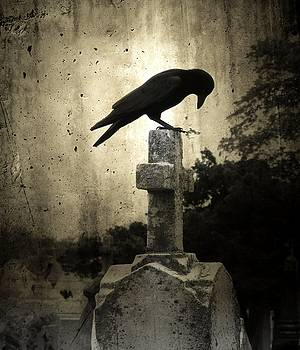 Cross Of The Dark Raven by Gothicrow Images