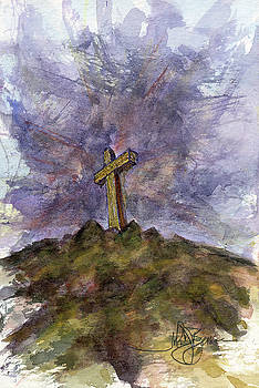Cross on Hill by John D Benson