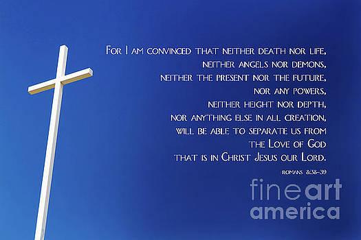 Cross With Blue Sky by Steven Frame