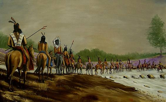 Crossing the Choctawhatchee by Charles Sims