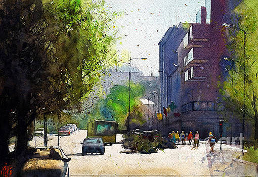 Crossroad at Lanester by Andre MEHU