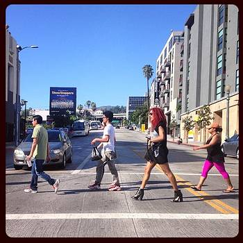#crosswalk #hollywood #california by Trek Kelly