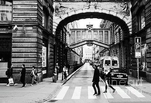 Colin Cuthbert - Crosswalk in Prague Czech Republic