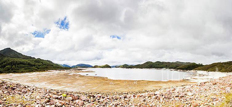 Crotty Dam Tasmania panorama by Jorgo Photography - Wall Art Gallery