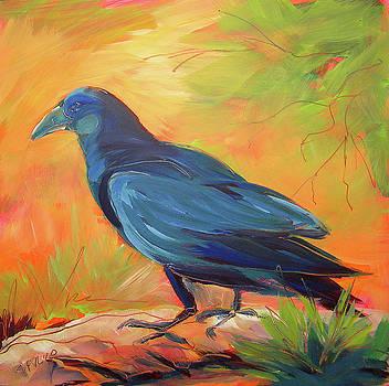 Crow in the Grass 7 by Pam Van Londen