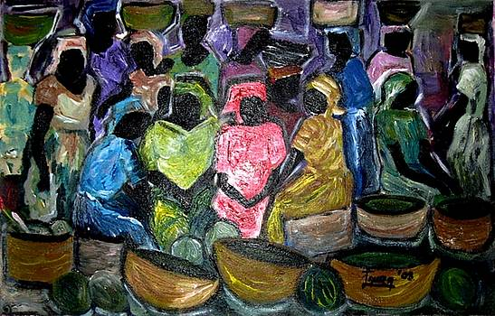 Crowded Market Day by Laura Fatta
