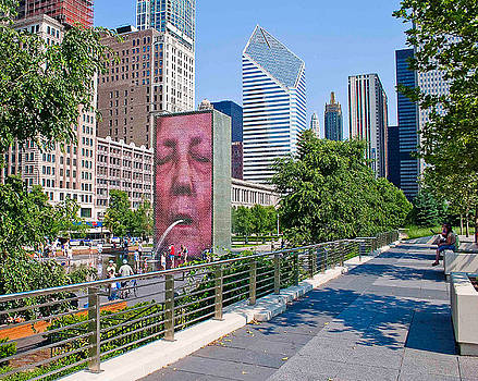 Crown Fountain Chicago 2 by Liviu Leahu