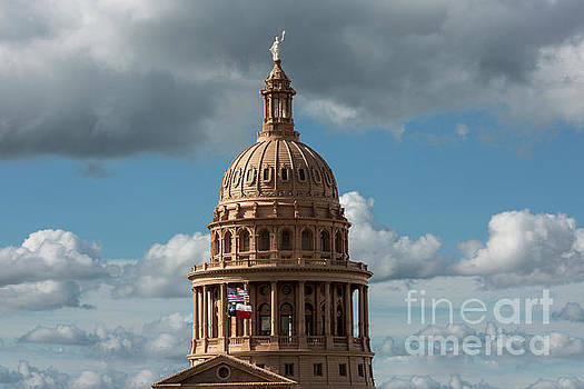 Herronstock Prints - Crowning the dome of the Texas State Capitol stands the Goddess