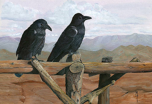 Crows in the Desert by Marsha Friedman