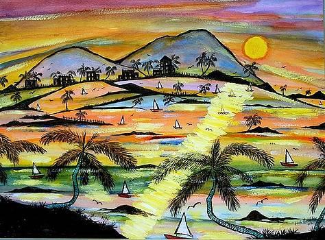 Crucian Sunrise by Ted Hebbler
