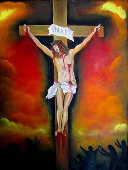Crucifixion Of Jesus by Xafira Mendonsa
