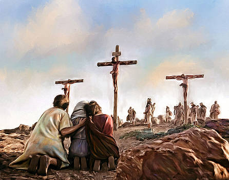 Crucifixion Religion Jesus Christ Art Painting by Andres Ramos
