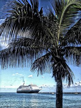 Cruise Ship, Frederiksted Pier, St. Croix, USVI by Sydney Solis