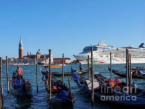 Cruise ship in St Mark's Basin Venice by Louise Heusinkveld