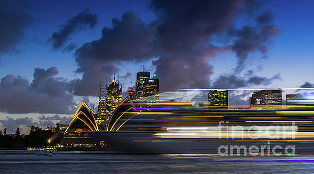Cruise ship Sydney Harbour by Andrew Michael