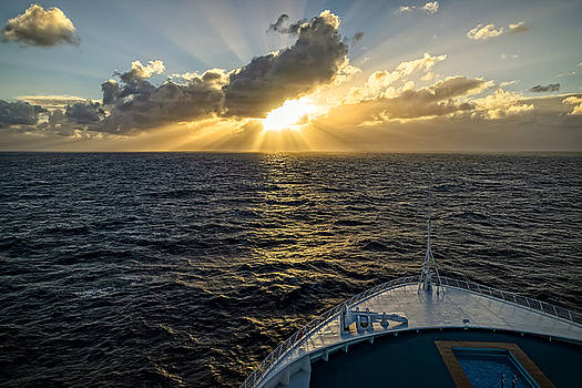 Cruising toward the Setting Sun by Tony Steinberg