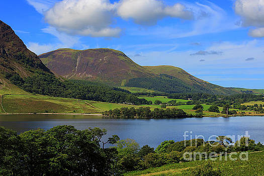 Crummock Water at the north end with Loweswater Fell behind by Louise Heusinkveld