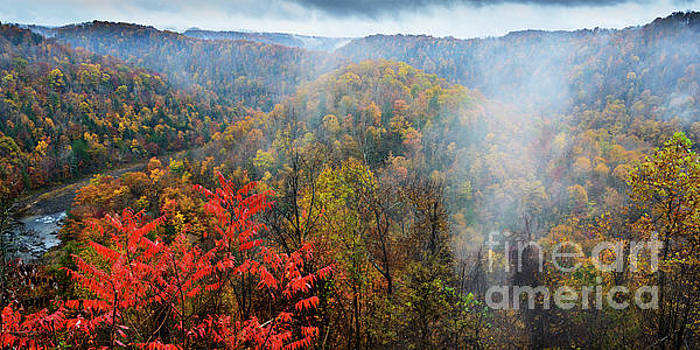 Crupperneck Bend Gauley River by Thomas R Fletcher